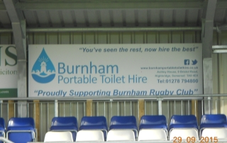 Burnham Rugby Club Stadium Burnham Toilet Hire Sponsors 2015 2016 - 2