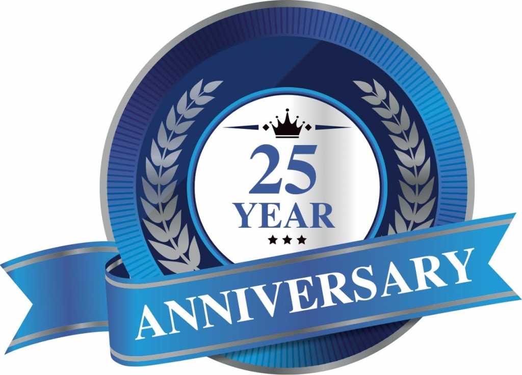 Burnham Portable Toilets 25 Year Anniversary - Logo
